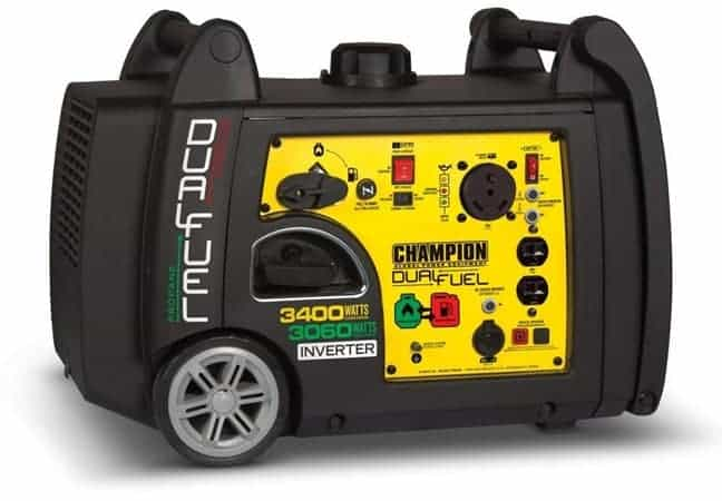 Champion 3400 Watts Dual Fuel Generator best quiet generator for camping
