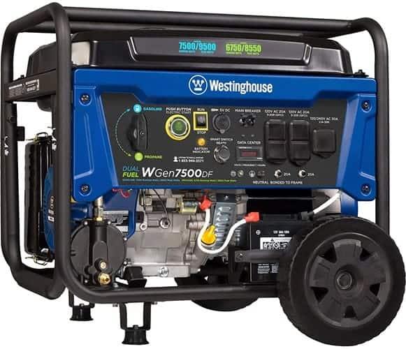 Westinghouse WGen7500DF best marine generator